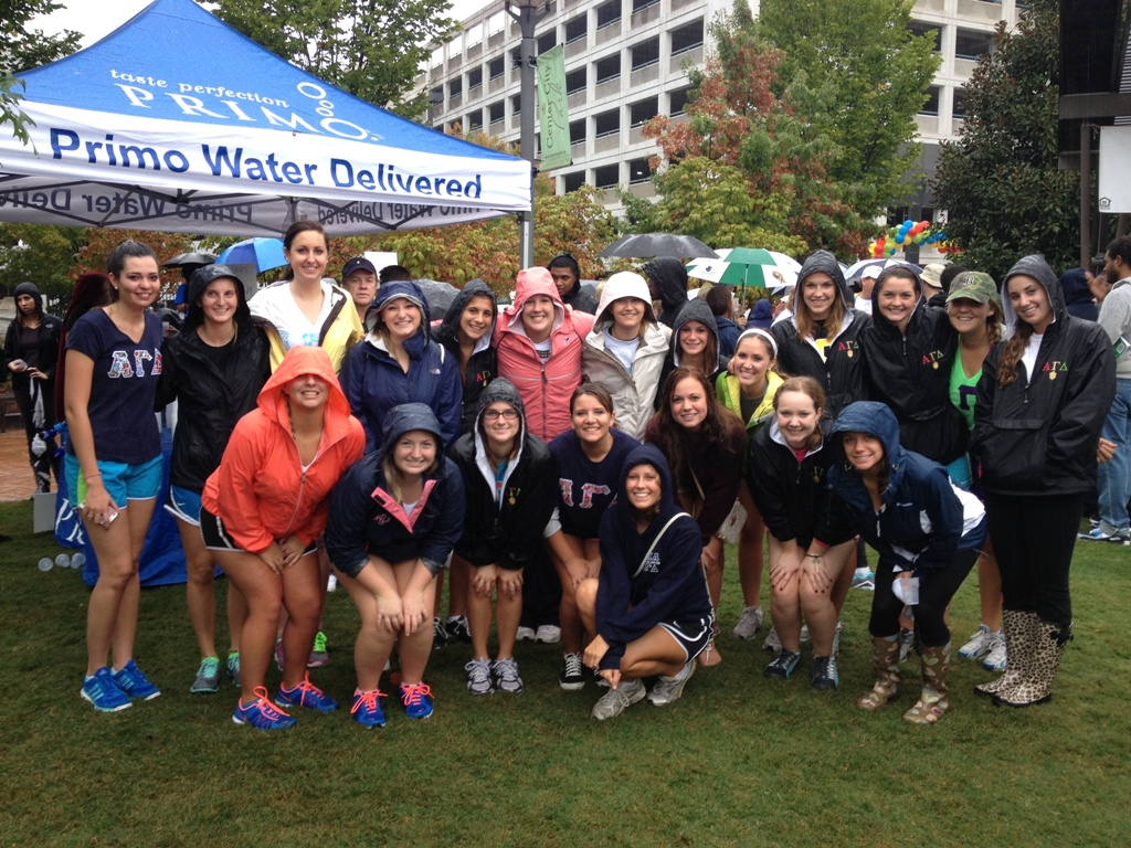 High Point University's Alpha Gamma Delta sorority at JDRF walk