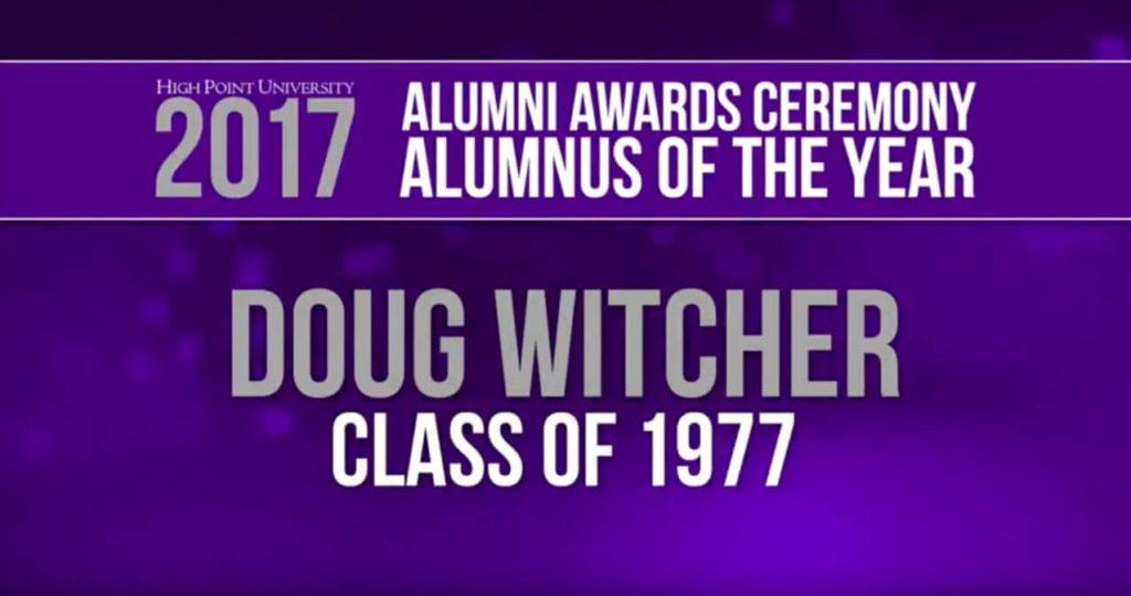 Alumnus of the year Doug Witcher