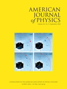 American Journal of Physics August Cover