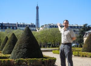 Tzavaras visited Paris during his studies abroad.