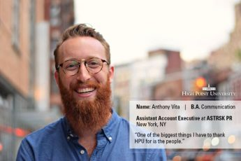 Class of 2016 Profile: Anthony Vita Joins PR Firm