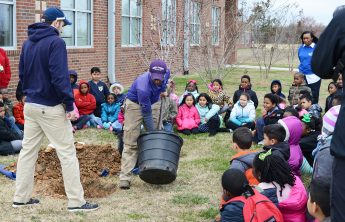 Planting a Seed: HPU Teaches the Importance of Trees at Union Hill Elementary