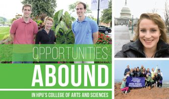 Opportunities Abound in HPU's College of Arts and Sciences