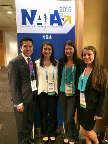 Students Present Research at National Athletic Training Association Meeting