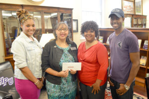 Pictured from left to right are Danielle Criss, La-Nita Williams, Jacqueline Brannon and Matthew Burns.