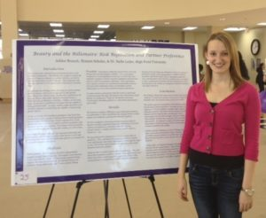 Sophomore Ashlee Branch with her first place poster presentation.