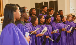 HPU's Genesis Gospel Choir sings at the event.