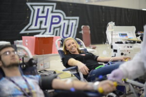High Point University Blood Drive HPU Cares