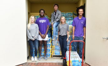 HPU Students Donate 16,000 Water Bottles to American Red Cross Hurricane Relief Efforts