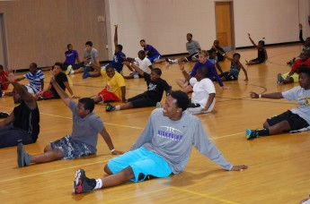 "Basketball Players Volunteer for ""Boys Night Out"""