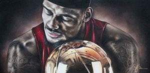 Brandon's LeBron James Portrait