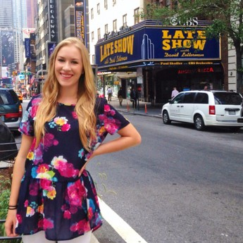 Senior Interns with David Letterman in NYC