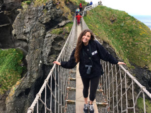 Brooke Liberto in Ireland for her Maymester trip with other HPU students.