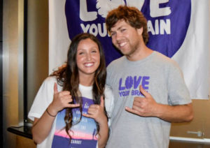 Liberto with ex-pro snowboarder Kevin Pearce