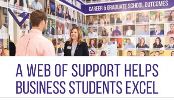 A Web of Support Helps Business Students Excel
