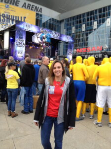 Miller worked behind the scenes for a pre-CMA Award concert on Good Morning America.