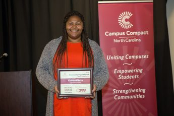 Student Honored for Community Service