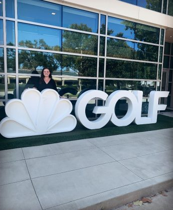 Class of 2019 Outcomes: Carly Garr Generates Graphics for NBC GolfNow