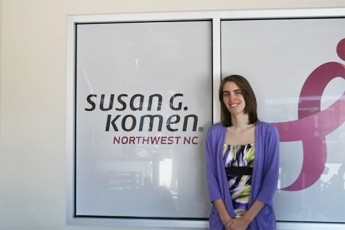 Senior Tells the Story of Cancer Survivors at Susan G. Komen Internship