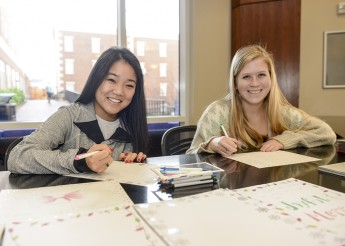 Sorority Makes Christmas Cards for Children at UNC Medical Center
