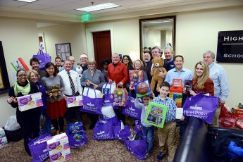 Qubein School of Communication Provides Christmas for Five Families