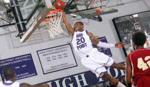 HPU High Point University Corey Law Dunk
