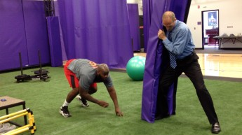NFL Player Corvey Irvin Trains in HPU's Biomechanics Lab