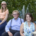 From left to right, HPU students Laura Carskadden, Rowan Grieb and Laura Hutchins were selected to take part in the highly competitive Promising Artists Program in Costa Rica.