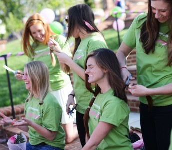 Students Chop Off their Hair to Help Cancer Patients