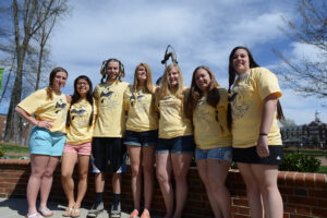Stephanie Berardi, Jessica Houston, Kyler Bradley, Allie Cook, Natalie Overly, Becca Dooley and Erin Monahan.