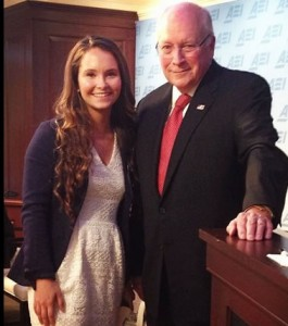 HPU student Anne Davey meets Dick Cheney, former vice president.