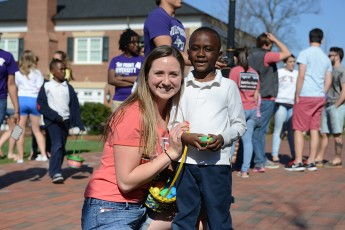 Zeta Tau Alpha Sorority Hosts Easter Egg Hunt for Children