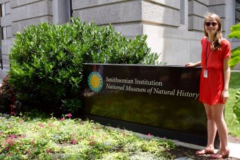 Senior Conducts Research at Smithsonian Natural History Museum