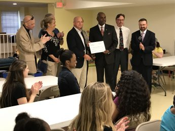 Community Writing Center Receives Donation from Local Elks Lodge
