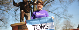 Ellen Barker TOMS Ticket to GIVE HPU High Point University