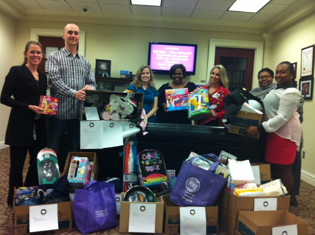 High Point University/FSP Christmas gifts