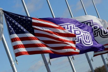 HPU Lowers Flags for Memorial Day