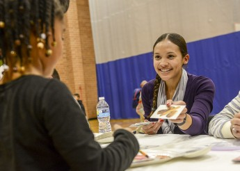 Students Teach Children about Healthy Living at Food Education Night