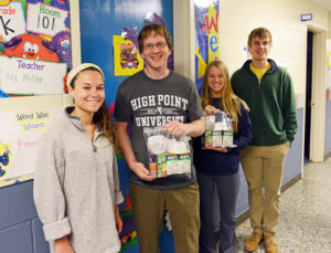 Pictured from left Caitlin Kane, Gabe Dudley, Katie Watson and Kyle Hawkes