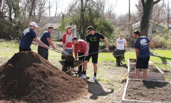 Fraternity Builds Garden Boxes for Burns Hill Community Garden