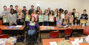 Psychology Students Give Gifts to Children at Parkview Elementary