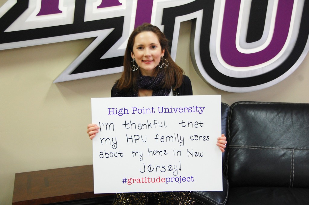 High Point University Gratitude Project Erin Karpovich