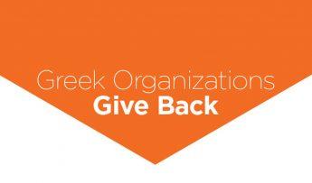 Greek Organizations Give Back