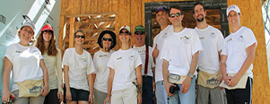 Faculty Help Build a Home in High Point