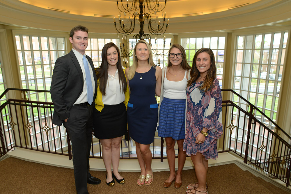 Pictured from left to right are Alexander Oberlander, Melissa Cattai, Emily Koehler, Allyson Hill and Ana Rallis.