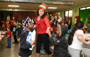 Business Fraternity Hosts Christmas Party for Boys and Girls Club