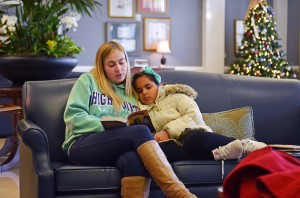 HPU student Courtney DuMont reads to her book buddy.