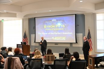 ABC News' Byron Pitts Spends Two Days Mentoring HPU Students