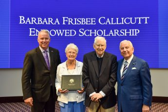 Callicutt Honors Mother with Creation of HPU Endowed Scholarship in Her Name