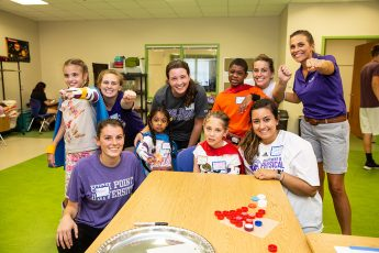 HPU Physical Therapy Students Serve as 'Buddies' at Camp High Five